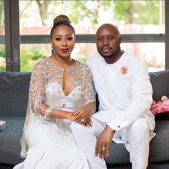 Dakore Egbuson Akande and husband