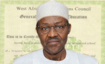 """WAEC: """"All My Academic Credentials Are With The Military"""" - President Buhari"""