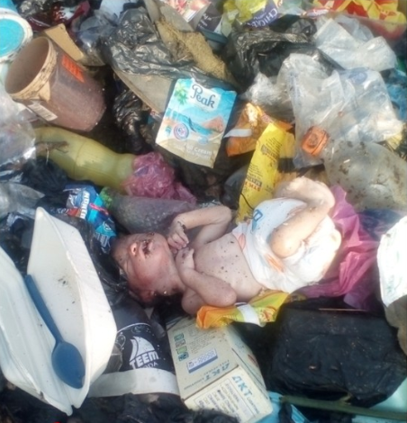 Newborn Baby Found At A Refuse Site In Calabar