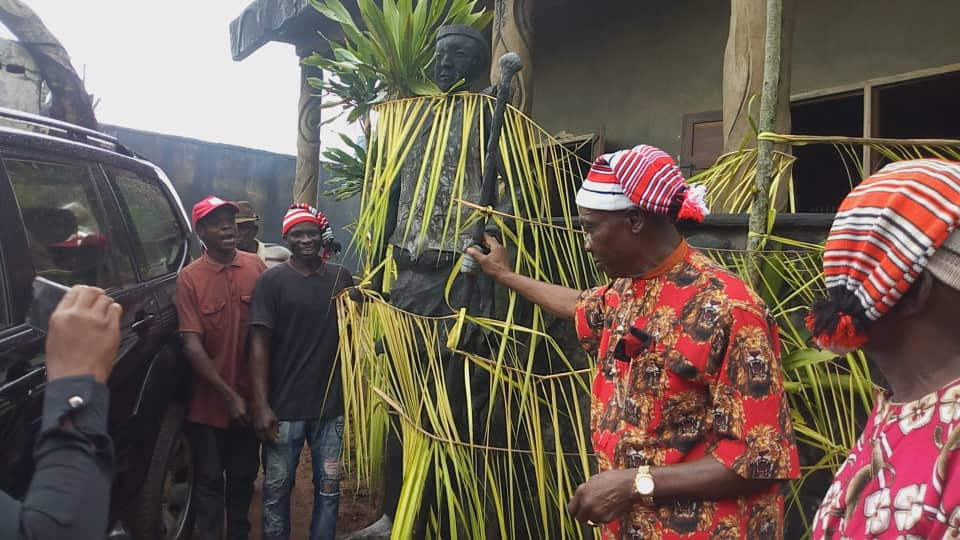 And Igbo community insists that yam remains the king of farm crops