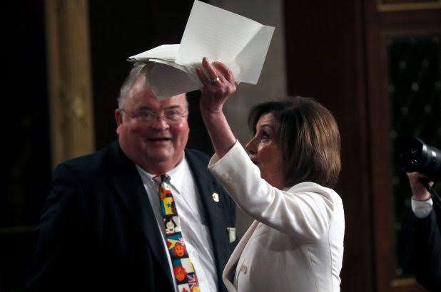 See Full Photos As Nancy Pelosi Tears Up President Trump's Speech