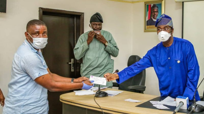 Lagos Govt Presents Cheques To 23 Families Over Abule-Ado Explosion
