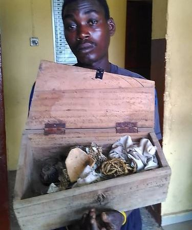 Suspected Ritualist Caught With Wooden Coffin, Other Items In Lagos