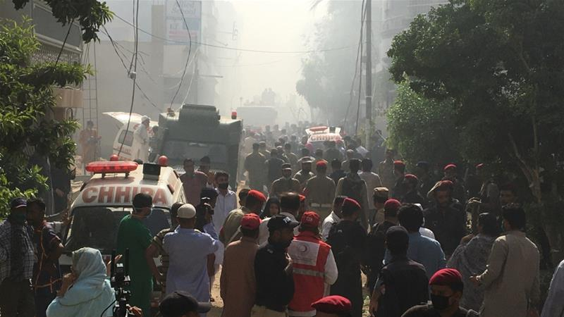 Passenger Plane With 100 People Crashes In Southern City Of Karachi, Pakistan