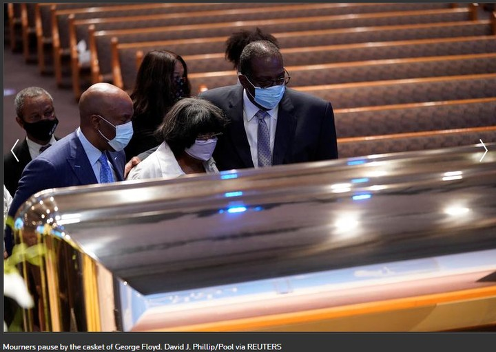 Photos From The Funeral Ceremony Of George Floyd