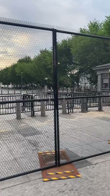 President Trump Builds Fence Around White House